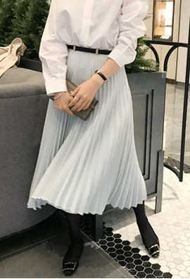 Blow pleat skirts (2color)