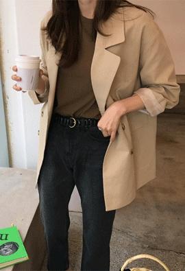 Double flap jacket (2color)