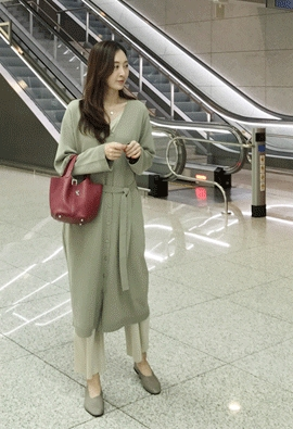 Long cardigan dress (3color)