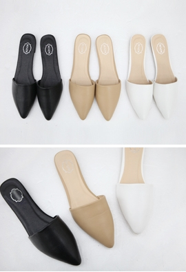 Pointed toe slippers (3color)
