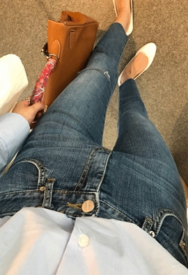Cutting denim pants