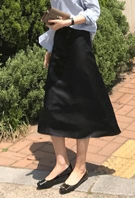 Glossy skirt (2color)