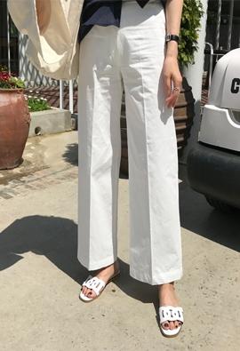 High cotton pants (2color)