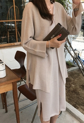 [Wholegarment] Wording cardigan (4color)