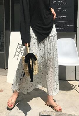 [Back band] Petal dot skirt (2color)