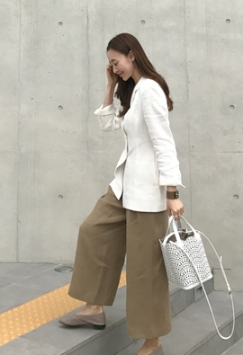 Correct linen pants (3color)
