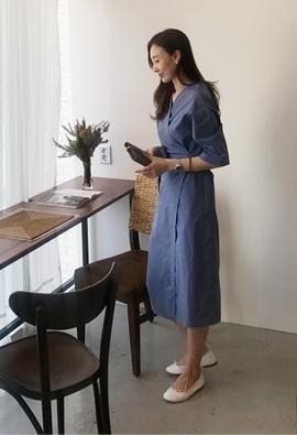 Curve wrap dress (3color)