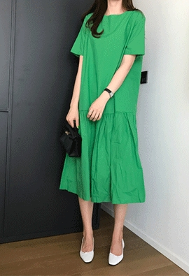 Low shirring dress (3color)