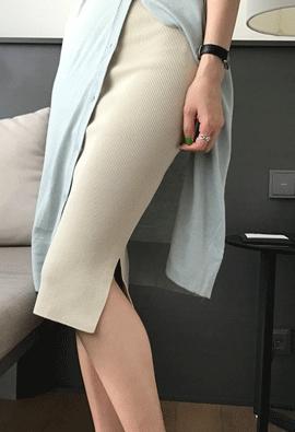 [Band type] Living slim skirt