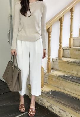 Twice tuck pants (2color)