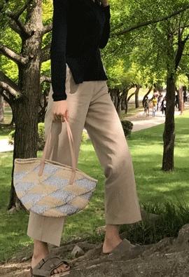 Linen cotton pants (4color)