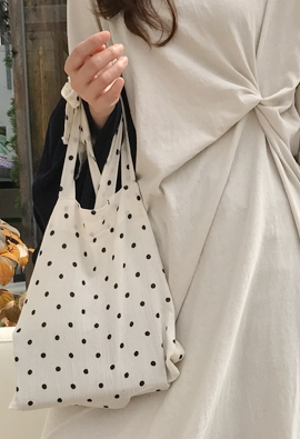 Dot ribbon bag (2color)