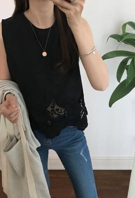 Lace top blouse (2color)