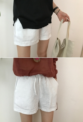 [Band type] Linen string shorts (5color)