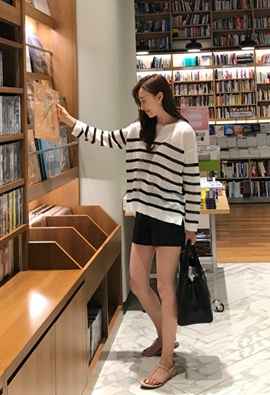 Stripe see through knit (2color)