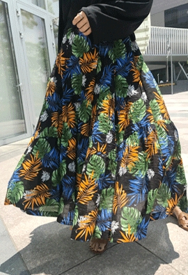 [Back Band] Feather Palm Skirt