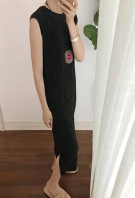 Crease pleat dress (3color)