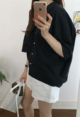 V Pleats blouse (2color)