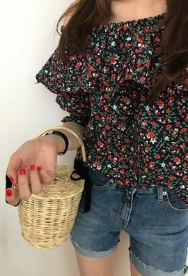 Floret off blouse (2color)