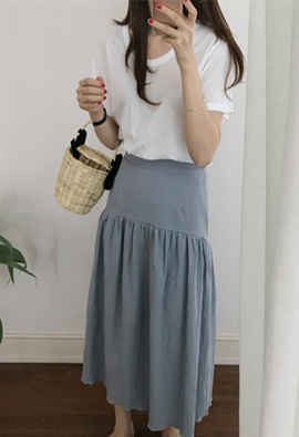 [Back band] Spencer skirt (3color)