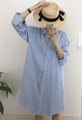Smoke shirt dress (2color)