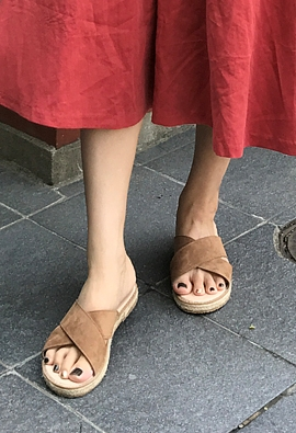 Cross slippers (2color)