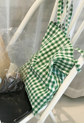 Gingham check eco bag (3color)