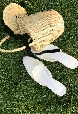 Rattan slipper (3color)