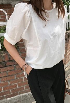 Cotton puff blouse (3color)