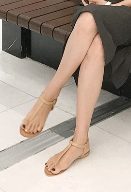 Clear sandals (3color)