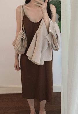 Frill slip dress (3color)