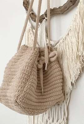 Knitting bucket bag (2color)