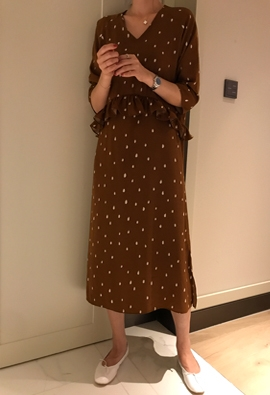 Painting dot dress (2color)