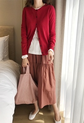 Wise round cardigan (9color)