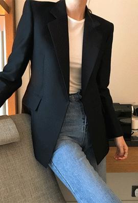 Wool silk jacket