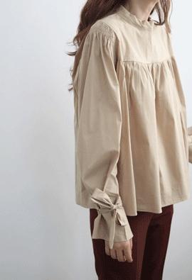 Shirring ribbon blouse (3color)