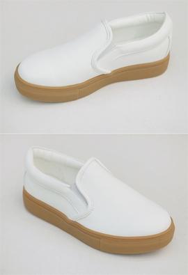 White slip-on