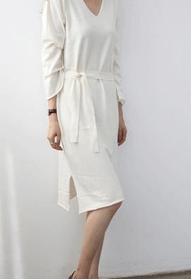 Slow knit dress (4color)