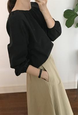 Elastic blouse (2color)