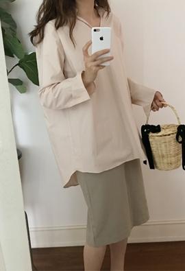 Colla slit shirts (3color)