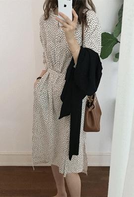 Tittle pattern dress (2color)