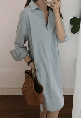 Open color dress (3color)