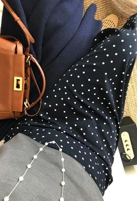 [Back Band] Dot midi skirts (2color)
