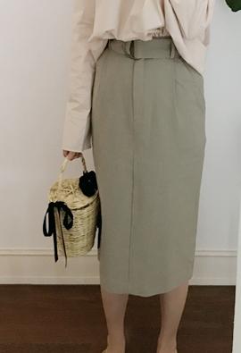 [Back band] Cotton belt skirts (2color)