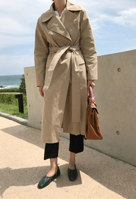 Belted trench coat (2color)
