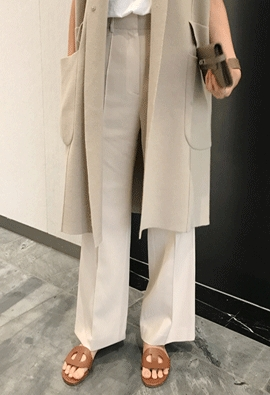 Tailor pin tuck pants (3color)