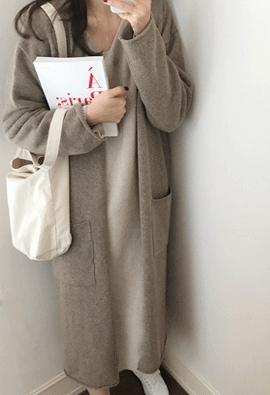 Robe knit cardigan (2color)