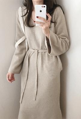 Unison knit dress (3color)