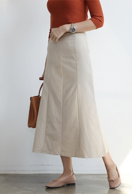 [Back band] Spread midi skirts (3color)