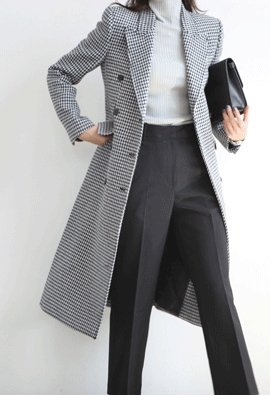Hound Tooth check coat (2color)